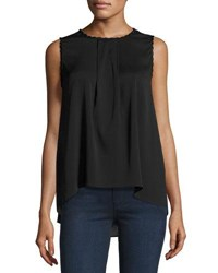 Tahari By Arthur S. Levine Dena Scallop Trimmed Blouse Black