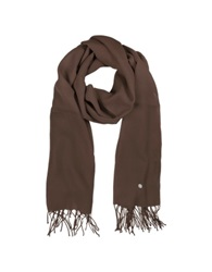 Mila Schon Brown Wool And Cashmere Stole