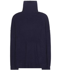 Jardin Des Orangers Turtle Virgin Wool And Cashmere Turtleneck Sweater Blue