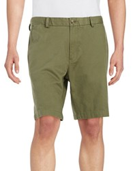 Black Brown 9 Inch Cotton Twill Shorts Dusty Olive