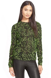 Milly Neon Floret Top Neon Yellow