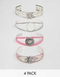 New Look Bracelet Cuff Pack Pink
