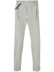 Berwich Striped Tapered Trousers Nude And Neutrals