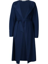 Dusan Belted Single Breasted Coat Blue