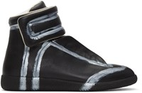 Maison Martin Margiela Black And Silver Future High Top Sneakers