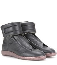 Maison Martin Margiela Future High Top Leather Sneakers Black