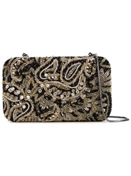 Alice Olivia Paisley Embroidery Clutch Metallic