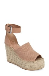 Marc Fisher Women's Ltd Adalyne Platform Wedge Blush Suede