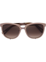 Lanvin Wayfarer Sunglasses Nude And Neutrals