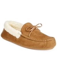 Club Room Men's Slippers Aaron Sherpa Lined Moccasins Tan