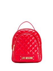 Love Moschino Logo Plaque Quilted Backpack 60