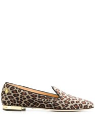 Charlotte Olympia Leopard Print Loafers 60