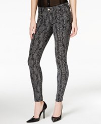 Guess Curve Snakeskin Print Skinny Wash Jeans