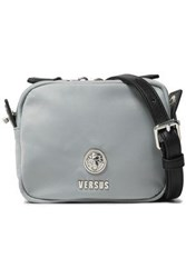 Versus By Versace Woman Leather Trimmed Shell Shoulder Bag Light Gray