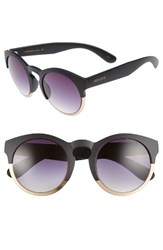 Perverse Women's Soho 53Mm Polarized Keyhole Sunglasses Multi Black Multi Black