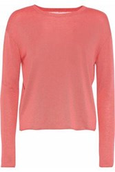 Red Valentino Redvalentino Woman Point D'esprit Paneled Cashmere And Silk Blend Top