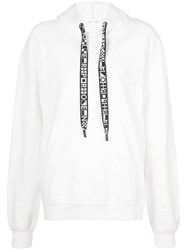 Proenza Schouler Hooded Sweatshirt With Drawstring Cotton L White