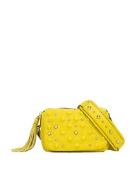 Sanctuary Studded Leather Camera Bag Yellow