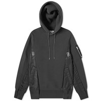 Sacai Sponge Sweat X Ma 1 Hoody Black