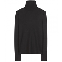 Balenciaga Silk Turtleneck Sweater Noir