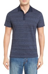 Robert Barakett Men's Genson Regular Fit Polo Midnight