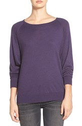 Women's Splendid Scoop Neck Pullover Sweater Plum Wine