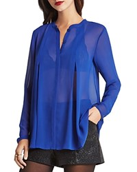 Bcbgeneration Sheer Box Pleat Shirt Electric Blue