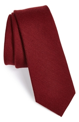 The Tie Bar Wool And Silk Solid Tie Burgundy