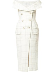Camilla And Marc Tailored Dress White
