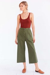 Bdg Utility High Rise A Line Culotte Pant Green