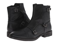Frye Ethan Triple Monk Black Buffalo Leather Men's Dress Pull On Boots