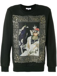 Les Benjamins Printed Long Sleeved Jumper Cotton Black