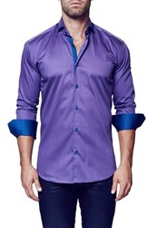 Men's Maceoo 'Elegance Purple' Contemporary Fit Long Sleeve Dress Shirt