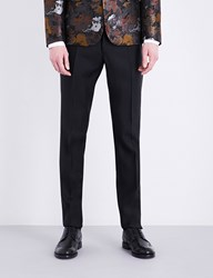 Dsquared Tokyo Fit Tapered Wool And Silk Blend Trousers Black