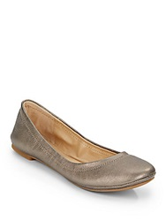 Lucky Brand Elysia Metallic Leather Ballet Flats Pewter
