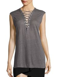 Iro Tissa Sleeveless Top Stone Grey