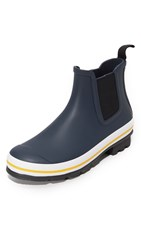 Hunter Original Rubber Chelsea Buoy Stripes Boots Navy