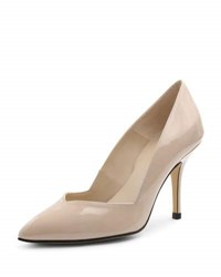 Andre Assous Steph Patent Pointed Toe Pump Beige