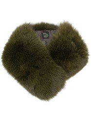Mr And Mrs Italy Fox Fur Collar Green