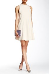 Romeo And Juliet Couture Mock Neck Swing Dress Beige