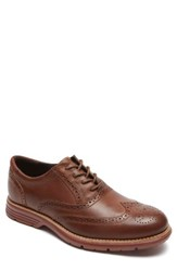 Rockport Men's Total Motion Fusion Wingtip New Carmel Leather