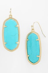 Women's Kendra Scott 'Elle' Drop Earrings Turquoise Gold