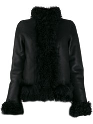 Saks Potts High Neck Jacket Black