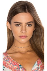 Natalie B Upper West Choker Metallic Copper