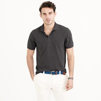 J.Crew Pique Polo Shirt With Embroidered Anchors