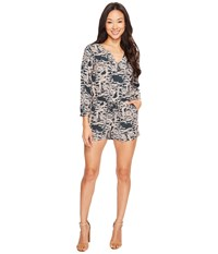 Lucky Brand Emerald Fern Romper Green Multi Women's Jumpsuit And Rompers One Piece