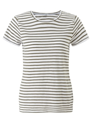 Jigsaw Slub Stripe T Shirt Light Khaki
