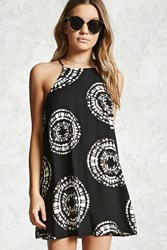 Forever 21 Geo Print Cami Dress Black Cream