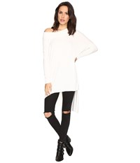 Free People Grapevine Tunic Ivory Women's Long Sleeve Pullover White