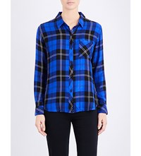 Rails Hunter Checked Shirt Cobalt Tartan